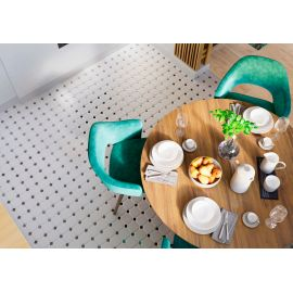 Octagon big White/Black Matt 30х30 см (лист) керамическая мозаика для пола