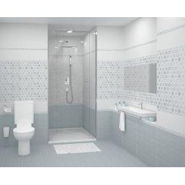 Керамическая плитка Azori Riviera Mist  в интерьере ванной комнаты