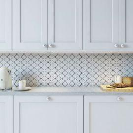 Latern White Matt 24,6х28 см керамическая мозаика Starmosaic серия White-Black в интерьере