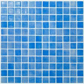 Colors 110 P синяя мозаика Vidrepur Niebla azul Celeste на бумаге