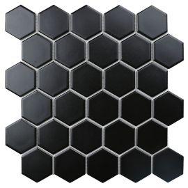 Hexagon small Black Matt 5,1х5,9 см керамическая мозаика