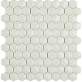 Мозаика шестиугольная Matt 904D White Vidrepur