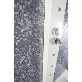 Lux 405 Lila фиолетовая высокоглянцевая мозаика Vidrepur на сетке для душевой
