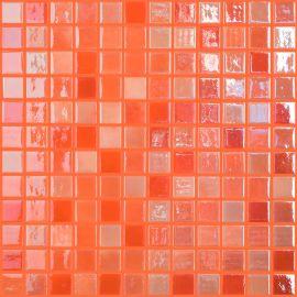 Lux 402 оранжевая высокоглянцевая мозаика Vidrepur