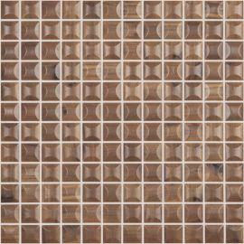 Edna Wood Nogal 4200/В 3D мозаика под дерево Vidrepur на сетке