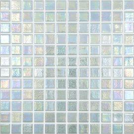 Shell 554 Mystic перламутровая мозаика мятного цвета Vidrepur на сетке