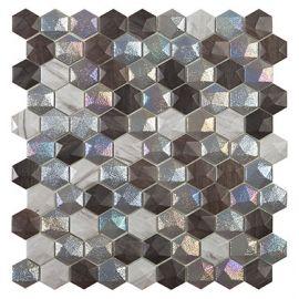 Мозаика шестиугольная Forest Mix Hex Vidrepur коллекция Honey Elite
