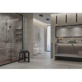 Плитка Абба микс серый 30х60 см в стиле лофт в интерьере