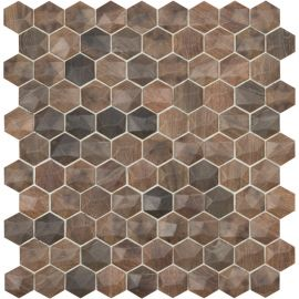 Мозаика Woods 4701D под дерево Hexagon Royal Dark/D Vidrepur