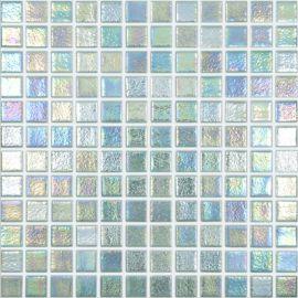 Shell 553 Crystal зеленая перламутровая мозаика Vidrepur на сетке
