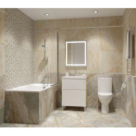 Керамогранит Дженезис бежевый лаппатированный 60х60 см завода Керранова для ванной комнаты