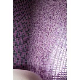 Lux 404 Magenta розовая высокоглянцевая мозаика Vidrepur в интерьере