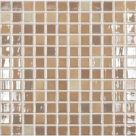Lux 421 бежевый микс высокоглянцевой мозаики Vidrepur