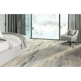 Керамогранит Cimic Wood бежево-серый 20х60 см в интерьере