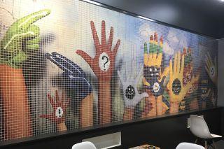 Сериграфические панно из мозаики Ezarri