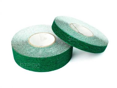 Зеленая противоскользящая лента грубой зернистости