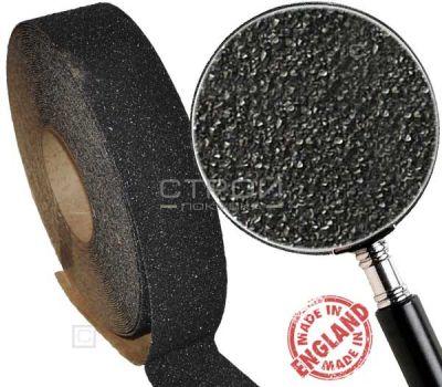 Черная противоскользящая лента, ширина 2,5 см, длина 18 м, грубая зернистость