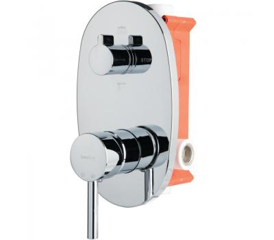 BTK D035 смеситель скрытого монтажа с переключателем ванна/душ хром 2-х ходовой вентиль