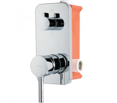 BTK D036 смеситель скрытого монтажа с переключателем ванна/душ хром 2-х ходовой вентиль