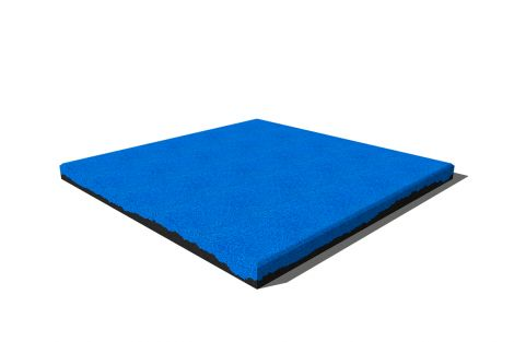 Плитка Premium из резиновой крошки 50х50х4 см ярко-голубая