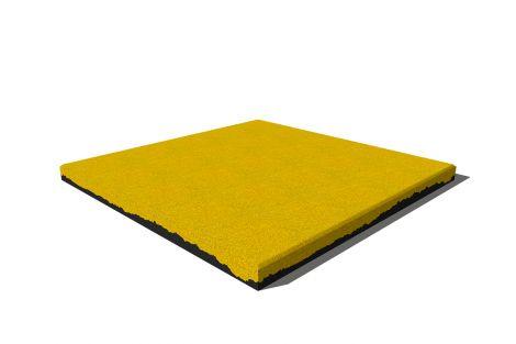 Плитка из резиновой крошки Premium 50х50х3 см ярко-желтая