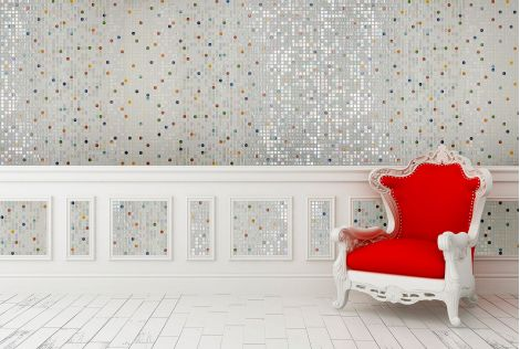 Мозаика Flowers Topping (Испания, Ezarri) для интерьеров в квартире или доме.