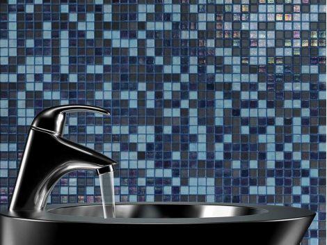 Мозаика испанская Blue Lagoon Cocktail идеальна для интерьеров ванных и душевых