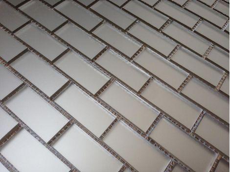 L42‐2 мозаика из зеркала (матовая бронза) Perla на сетке.