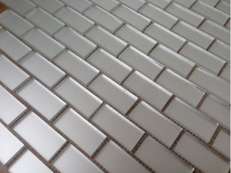 М42‐2 Серебряная матовая мозаика на сетке.