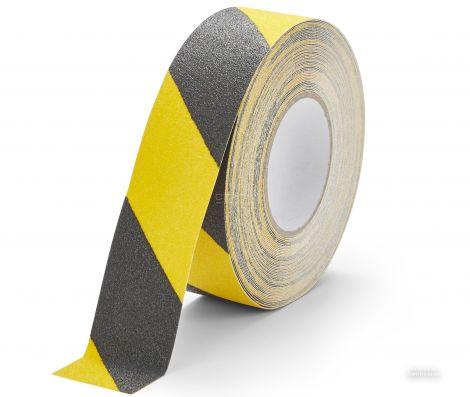 Черно-желтая абразивная противоскользящая лента Heskins шириной 5 см