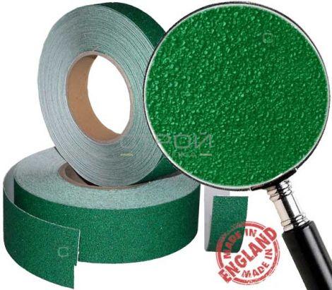 Зеленая противоскользящая лента в рулонах шириной 2,5 и 5 см
