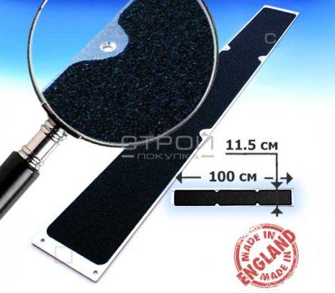 Черная противоскользящая пластина 100x11,5 см.