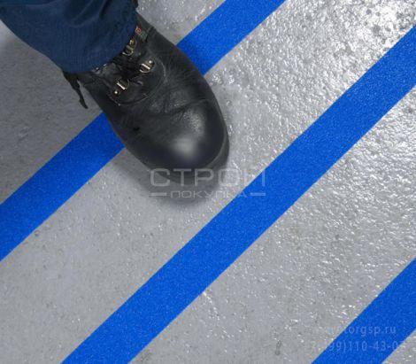 Синяя противоскользящая лента Heskins