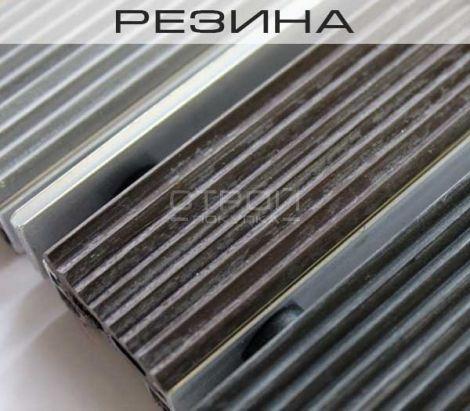 Вставка резина в грязезащитное покрытие на алюминиевом профиле