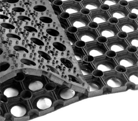 Резиновое противоскользящее покрытие на входные зоны