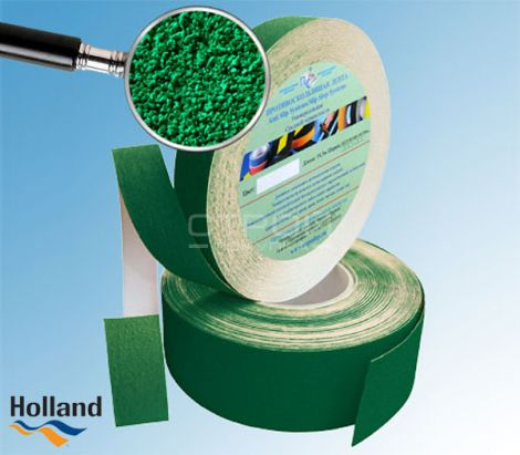 Зеленая противоскользящая лента 25мм, 50 мм