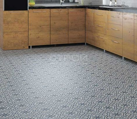Плитка BERKELEY SLATE BLUE 45x45 Timeless в интерьере