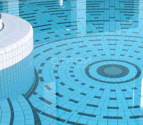 Плитка 716 RH B Variocolor 244x119x7.5 мм в чаше бассейна