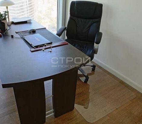 Коврик под офисное кресло прямоугольный с гладкой поверхностью