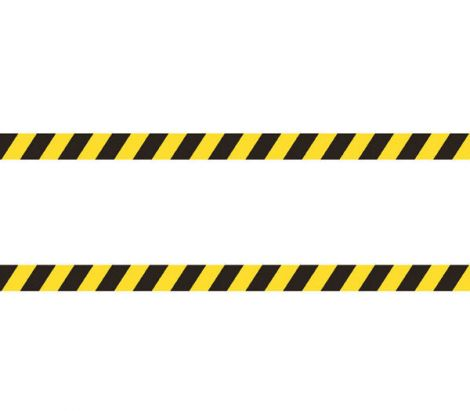 Противоскользящая алюминиевая накладная полоса черно-желтого цвета