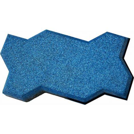 Резиновая брусчатка Волна, 22х13х4 см голубая
