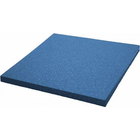 Синяя плитка из резиновой крошки 50х50х1.6 см Comfort