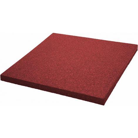 Плитка из резиновой крошки 50х50х3 см Comfort красный