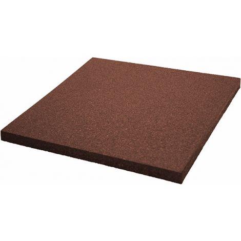 Плитка из резиновой крошки 50х50х4 см Comfort коричневая