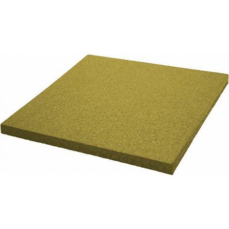 Плитка из резиновой крошки 50х50х4 см Comfort желтый