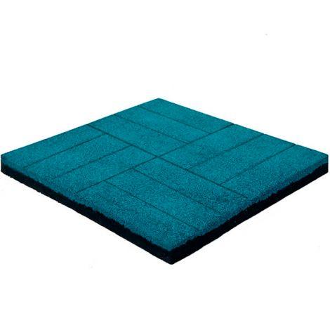 Резиновая плитка Кирпич 50х50х4 см голубая