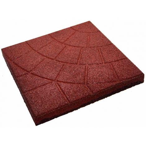 Плитка из резиновой крошки паутинка красный, 30 мм