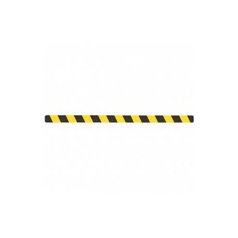 Черно-желтая виниловая полоса против скольжений, 1м