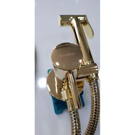 Золотой Гигиенический душ Pulito Teska с подачей горячей и холодной воды - СтройПокупка