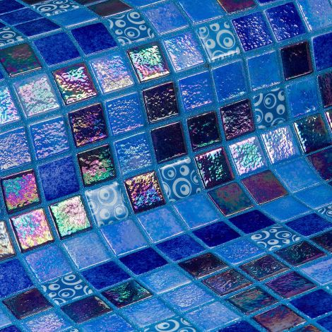 Blueberries коллекция мозаики Topping — синий микс